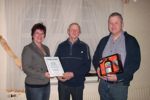 Diedrich Böttjer wurde für 50 Jahre Mitgliedschaft geehrt
